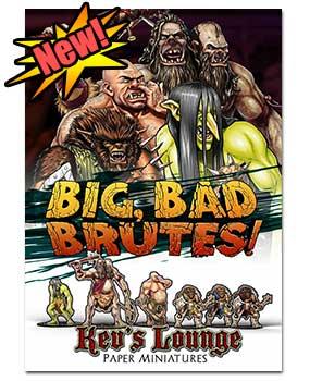 Paper Minis - Big Bad Brutes cover